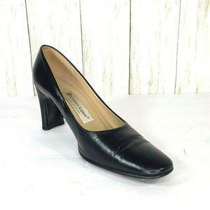 Etienne Aigner Black Leather Pumps Shoes Size 7.5